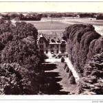 Vue aérienne du château dans les années 60